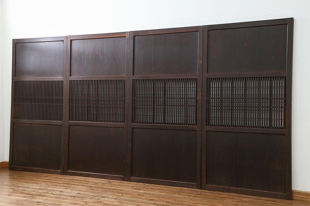 古家具の引戸4枚セット。