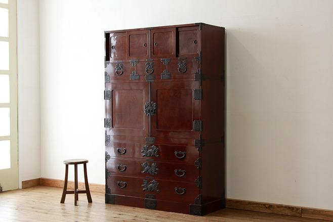 古家具 ケヤキ時代箪笥。
