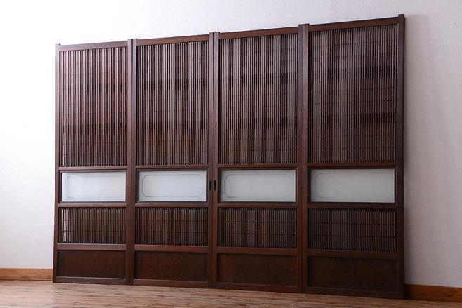 廃業する和食店にあった古家具の大正~昭和初期の格子戸。