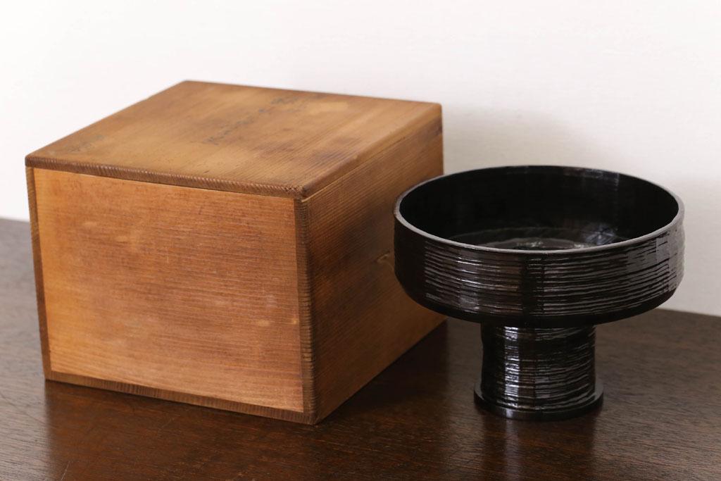 コレクション品の茶道具 独楽菓子器。